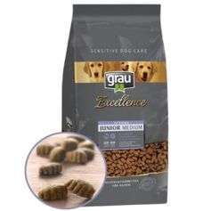 Croquettes naturelles GRAU Excellence chiens Junior MEDIUM Dindonneau